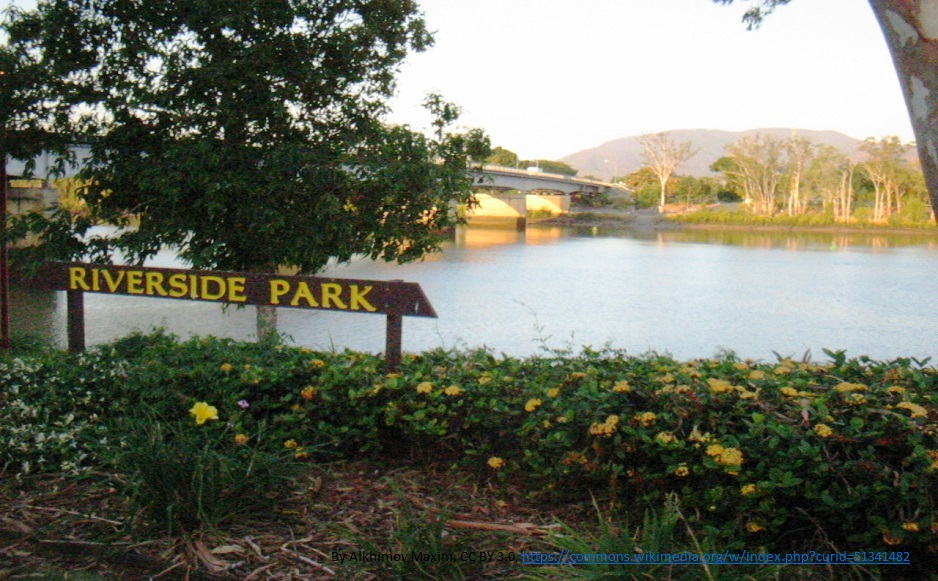 Fitzroy River Bridge and Riverside Park, Rockhampton